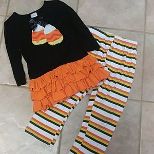 Girls Halloween Candy Corn outfit size 7